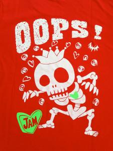 スケルトン RED Tシャツ 背面デザイン