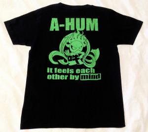 阿吽「ブラック:胸赤×背緑」Tシャツ(背面)