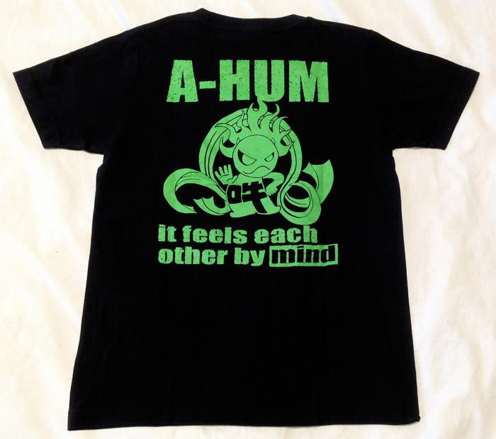 阿吽「ブラック:胸緑×背緑」Tシャツ阿吽「ブラック:胸緑×背緑」Tシャツ(背面)