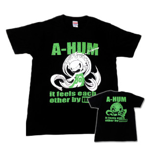 阿吽「ブラック:胸緑×背緑」Tシャツ