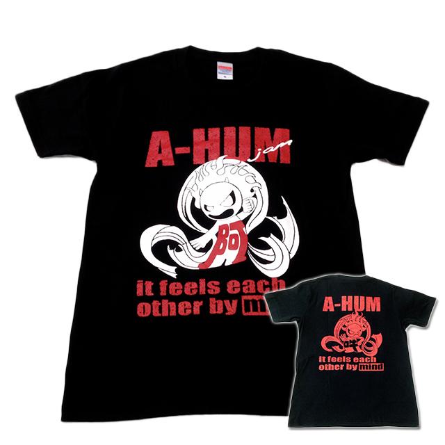 阿吽「ブラック:胸赤×背赤」Tシャツ