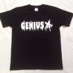 Genius「ブラック」Tシャツ(胸面)