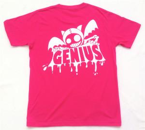 Genius「トロピカルピンク」Tシャツ(背面)