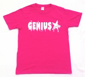 Genius「トロピカルピンク」Tシャツ(胸面)