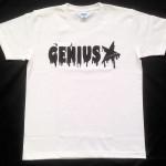 Genius「ホワイト」Tシャツ(胸面)