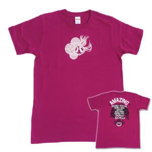 八咫烏「アーガイルパープル」Tシャツ