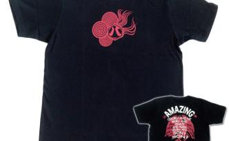 八咫烏「ブラック:赤」Tシャツ