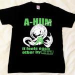 阿吽「ブラック:胸緑×背緑」Tシャツ阿吽「ブラック:胸緑×背緑」Tシャツ(胸面)