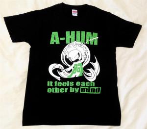 阿吽「ブラック:胸緑×背赤」Tシャツ(胸面)