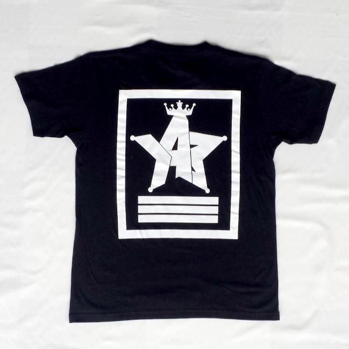 Crown Star「ブラック」Tシャツ(胸面)