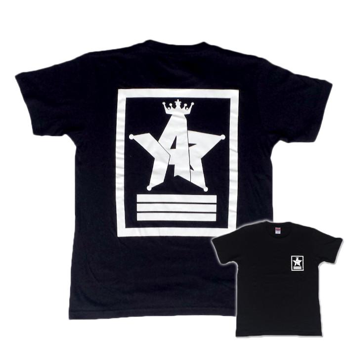 Crown Star「ブラック」Tシャツ