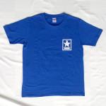 Crown Star「ブルー」Tシャツ(胸面)