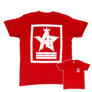 Crown Star「レッド」Tシャツ